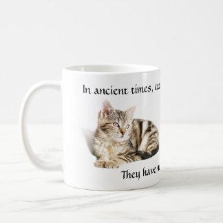 Adoración del gato taza de café