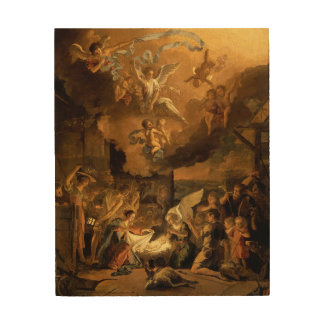 Adoración del navidad de la bella arte de los