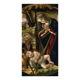 Adoración del niño de Cristo por Botticelli Tarjetas Con Fotos Personalizadas