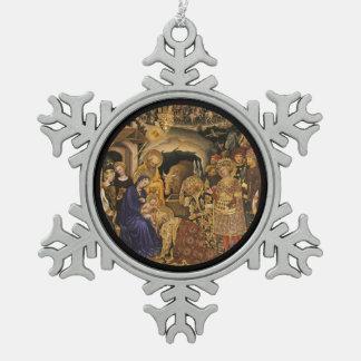 Adoración gentil de Dei Fabriano de unos de los Adorno De Peltre Tipo Copo De Nieve
