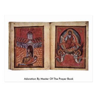 Adoración por el amo del libro de oración tarjetas postales