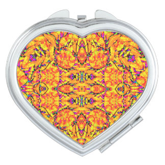 Adornado vibrante colorido espejo de viaje