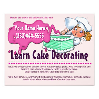 Adornamiento de la torta. El cocer. Clases. Folleto 11,4 X 14,2 Cm