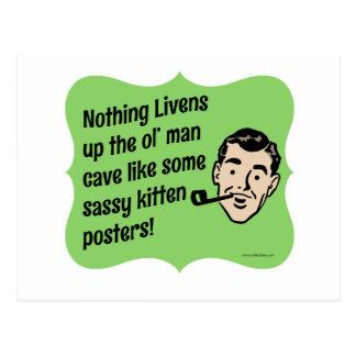 Adorne al individuo de Snarky de la cueva del Postal