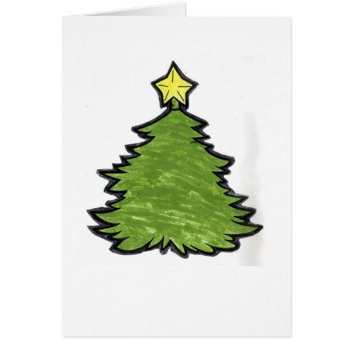 Adorne su propio árbol de navidad tarjeton