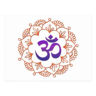 Adorno 1 del diseño/OM de la yoga Postal