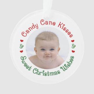 Adorno 1r primer regalo de la foto del navidad del bebé