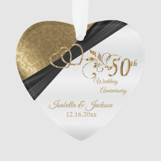 Adorno 50.o Diseño del recuerdo del aniversario de boda