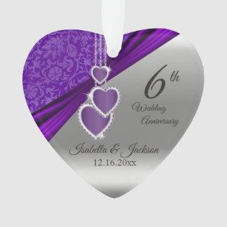 Adorno 6to Aniversario de boda Amethyst