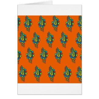 Adorno anaranjado y verde tarjeta