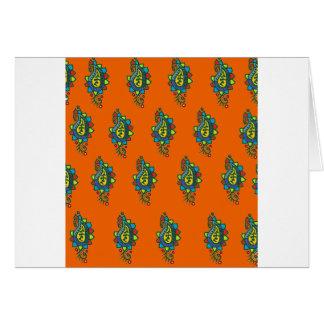 Adorno anaranjado y verde tarjetas