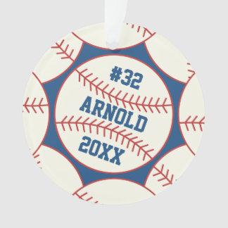 Adorno Azul personalizado del modelo del béisbol
