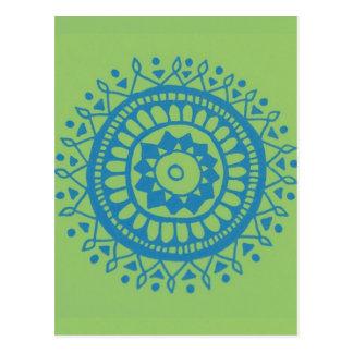 Adorno azulverde del lil postal