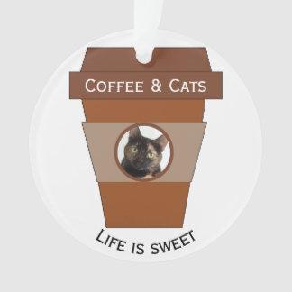 Adorno Café y gatos adaptables - la vida es dulce