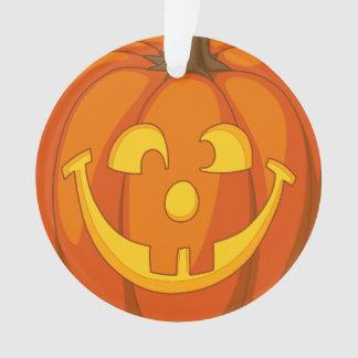 Adorno Cara torpe feliz de la calabaza de Halloween de la