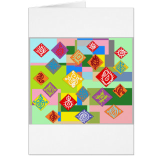 Adorno colorido del dibujo tarjeta