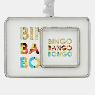 Adorno Con Marco Bongo de Bango del bingo de la CAMISETA