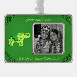 Adorno Con Marco Elefante de la alheña (verde/verde lima)