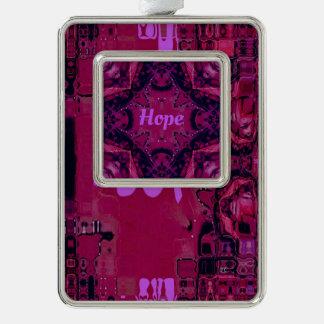 """Adorno Con Marco """"Esperanza color de rosa brillante"""" inspirada"""