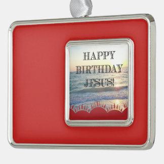 Adorno Con Marco Feliz cumpleaños Jesús sobre el océano