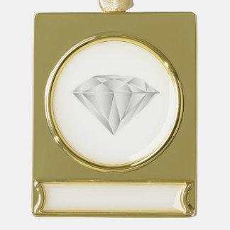 Adorno Con Rótulo Dorado Diamante blanco para mi amor