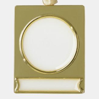 Adorno Con Rótulo Dorado Ornamento de encargo de la bandera - oro plateado