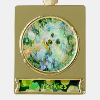 Adorno Con Rótulo Dorado Ornamento plateado lindo de la burbuja del verde
