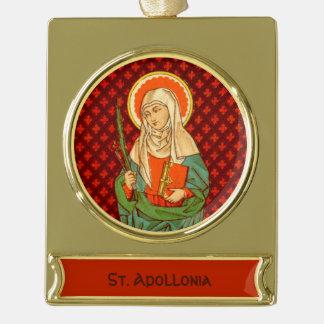 Adorno Con Rótulo Dorado St. Apollonia (VVP 001)