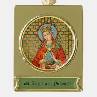Adorno Con Rótulo Dorado St. Barbara (JP 01)