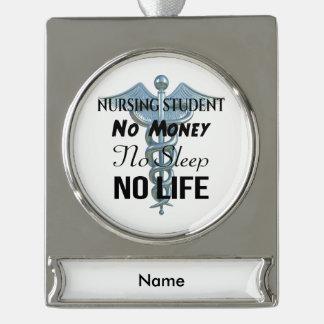 Adorno Con Rótulo Plateado Cita divertida de la enfermera del estudiante del