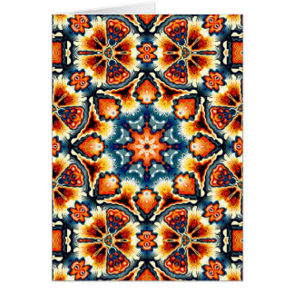 Adorno concéntrico colorido tarjeta de felicitación