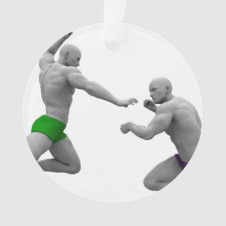 Adorno Concepto de los artes marciales para luchar y la