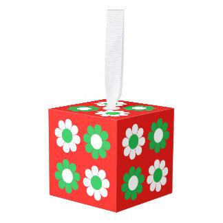 Adorno Cúbico Flower power de Navidad