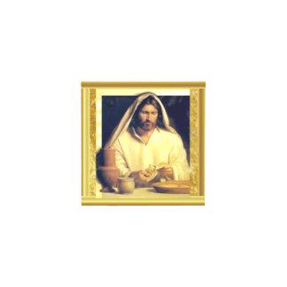 Adorno Cúbico Jesús que rompe textura del oro de matthew 14-13