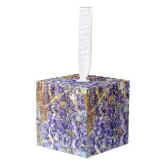 Adorno Cúbico mineral de piedra amethyst de la gema de la roca