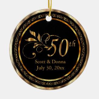 Adorno De Cerámica 50.o aniversario de boda de oro elegante