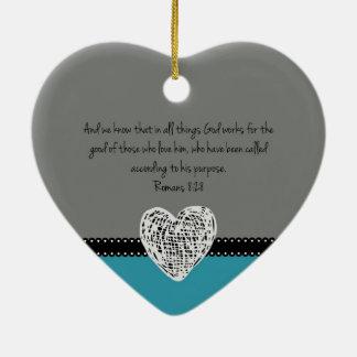Adorno De Cerámica 8:28 cristiano de los romanos del verso de la