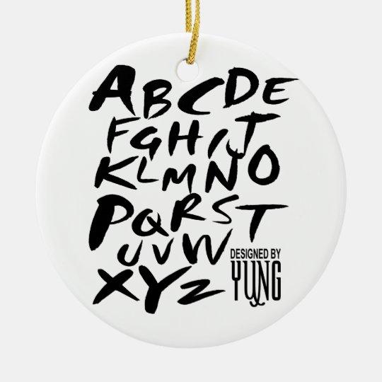 Adorno De Cerámica A a letras alfabéticas de Z