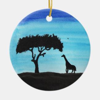 Adorno De Cerámica Acacia y jirafa