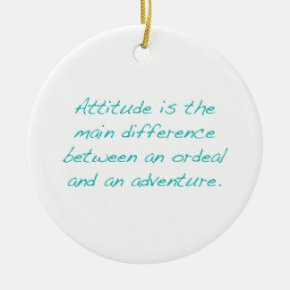 Adorno De Cerámica Actitud -- prueba dura o aventura (verde)