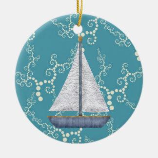 Adorno De Cerámica Agua que remolina personalizada del velero náutico