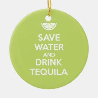 Adorno De Cerámica Ahorre el agua y beba el Tequila