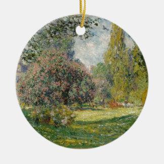 Adorno De Cerámica Ajardine el Parc Monceau - a Claude Monet