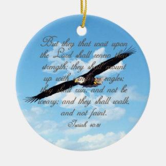 Adorno De Cerámica Alas como Eagles, biblia del cristiano del 40:31