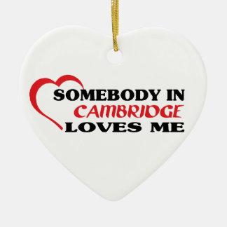 Adorno De Cerámica Alguien en Cambridge me ama