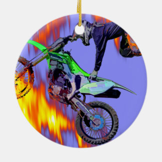 Adorno De Cerámica Alto jinete del motocrós del estilo libre del
