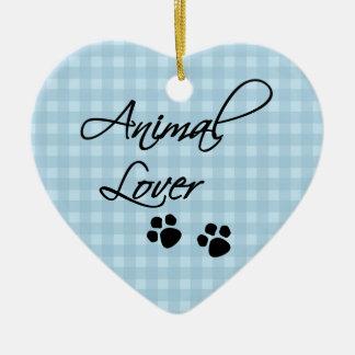 Adorno De Cerámica Amante-patas animales
