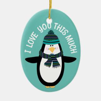 Adorno De Cerámica Ámele regalo del navidad del pingüino de la