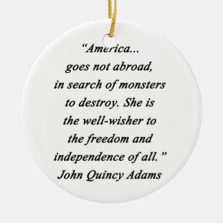 Adorno De Cerámica América en el extranjero - Juan Q Adams