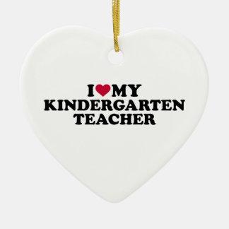 Adorno De Cerámica Amo a mi maestro de jardín de infancia